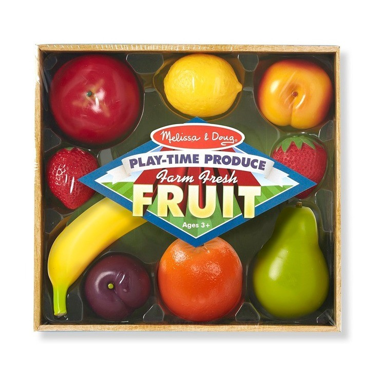cheap Melissa & Doug Playtime Produce Fruits Play Food Set With Crate (9pc) competitive reasonable