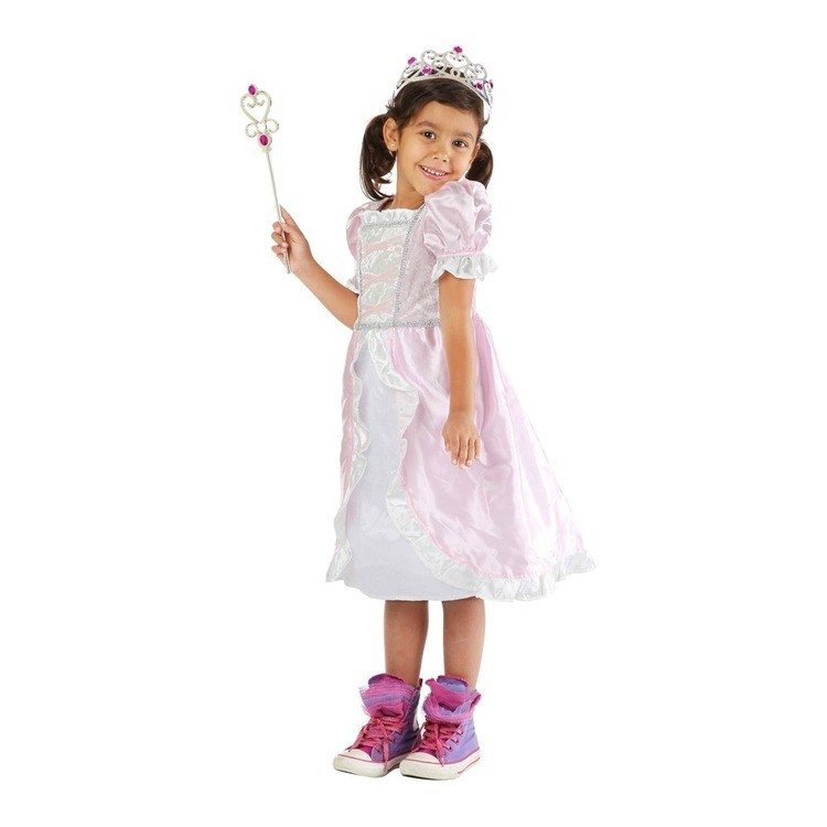 cheap Melissa & Doug Princess Role Play Costume Set (3pc)- Pink Gown, Tiara, Wand, Women's, Size: Small reasonable competitive