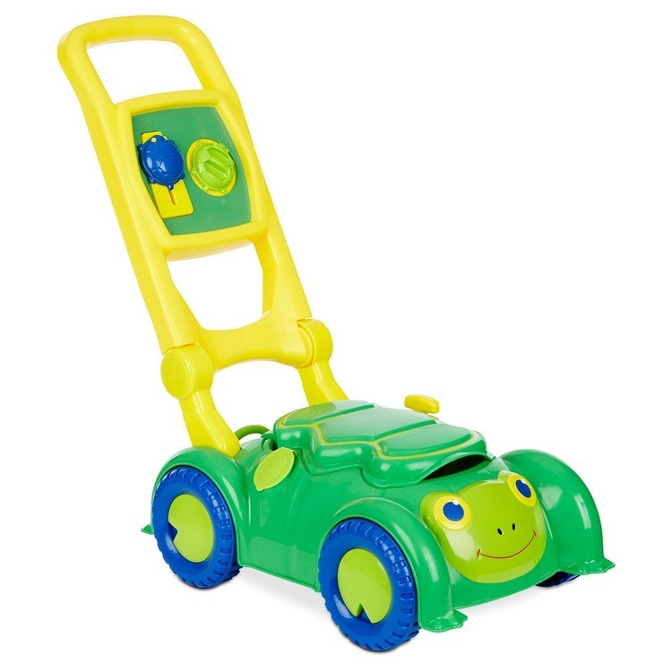 cheap Melissa & Doug Sunny Patch Snappy Turtle Lawn Mower - Pretend Play Toy for Kids reasonable competitive