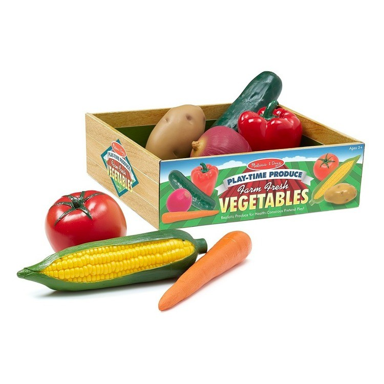 cheap Melissa & Doug Playtime Produce Vegetables Play Food Set With Crate (7pc) reasonable competitive
