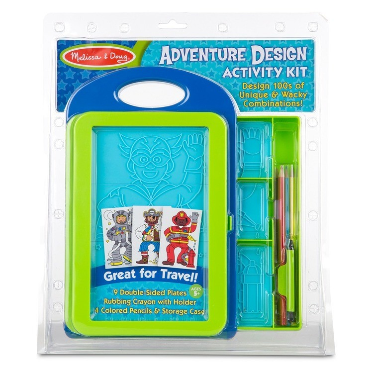 competitive Melissa & Doug Adventure Design Activity Kit: 9 Double-Sided Plates, 4 Colored Pencils, Crayon reasonable cheap