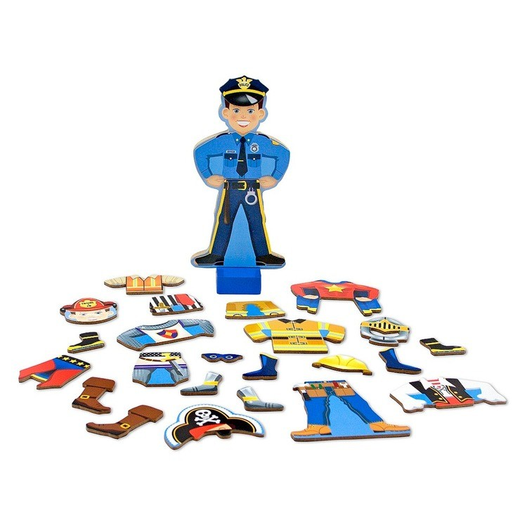 cheap Melissa & Doug Joey Magnetic Wooden Dress-Up Pretend Play Set (25+pc) reasonable competitive