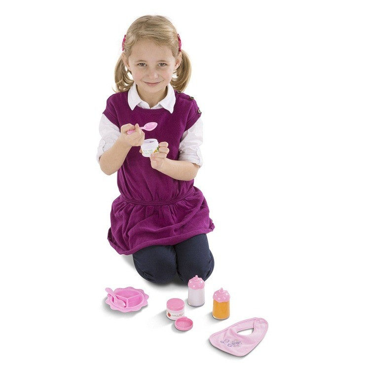 cheap Melissa & Doug Mine to Love Time to Eat Doll 8 pc Accessories Feeding Set competitive reasonable