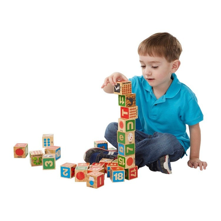 cheap Melissa & Doug ABC/123 Wooden Blocks (26pc) competitive reasonable