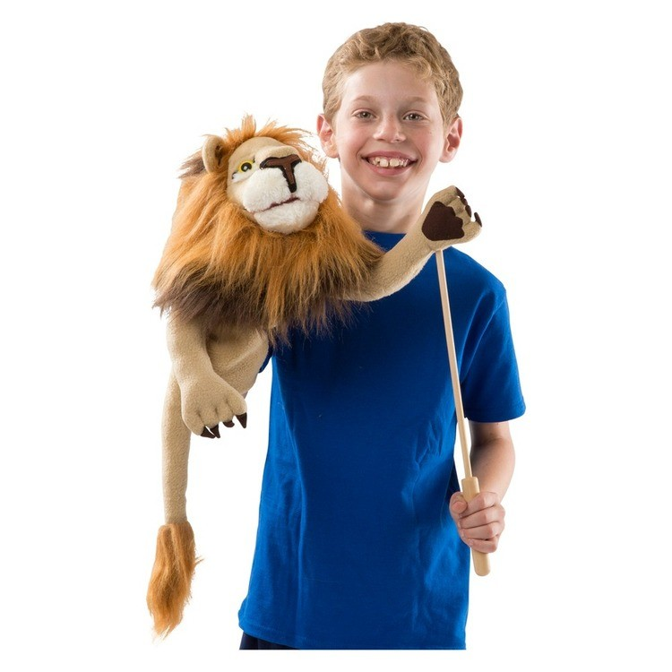 competitive Melissa & Doug Rory the Lion Puppet With Detachable Wooden Rod for Animated Gestures cheap reasonable