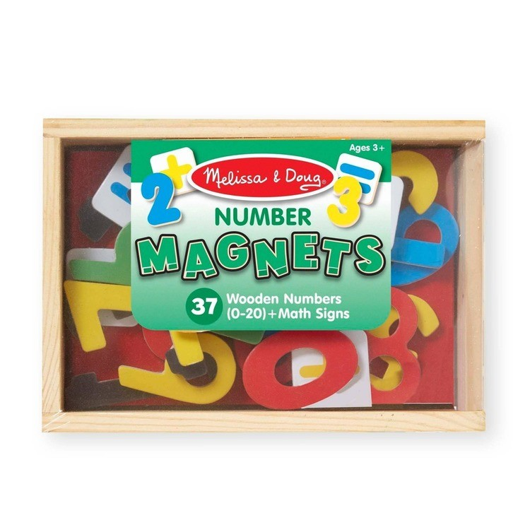 reasonable Melissa & Doug 37 Wooden Number Magnets in a Box competitive cheap