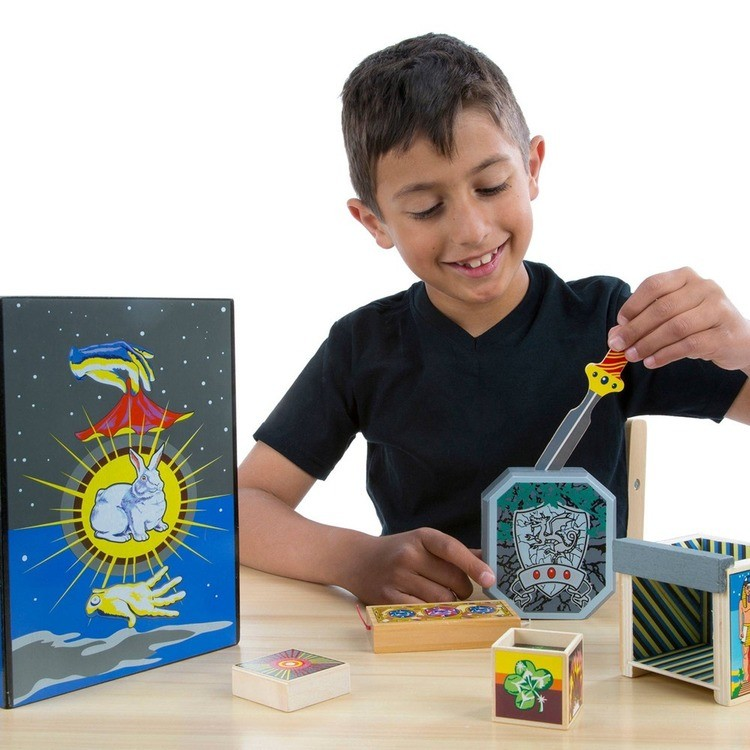 reasonable Melissa & Doug Discovery Magic Set With 4 Classic Tricks, Solid-Wood Construction cheap competitive