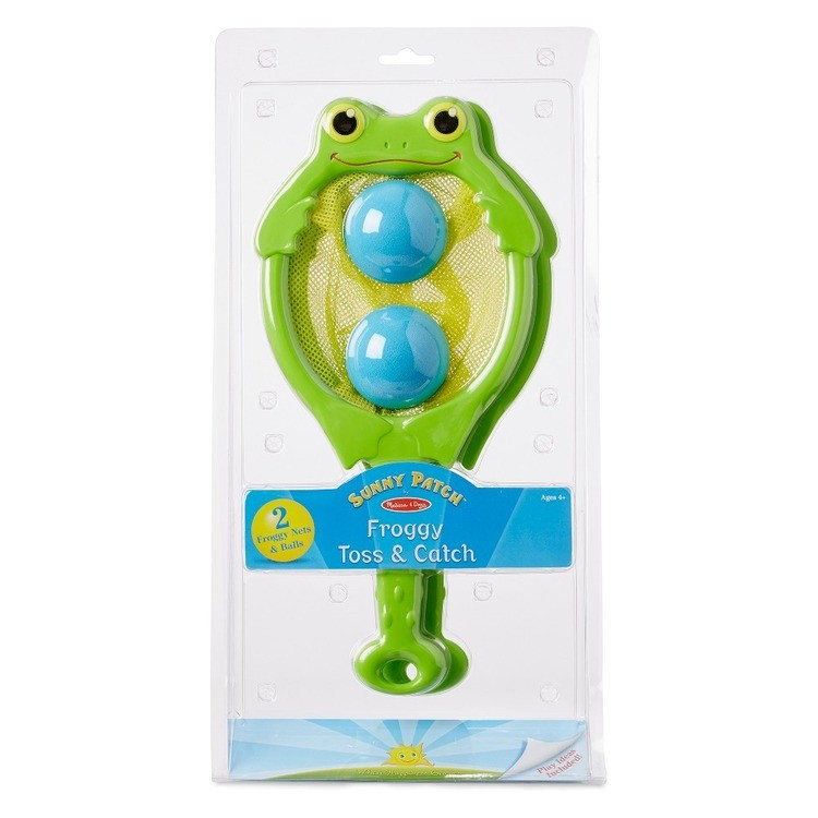 cheap Melissa & Doug Sunny Patch Froggy Toss and Catch Net Game With 2 Balls reasonable competitive