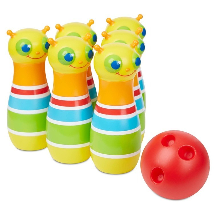 reasonable Melissa & Doug Rainbow Caterpillar Bowling Set competitive cheap