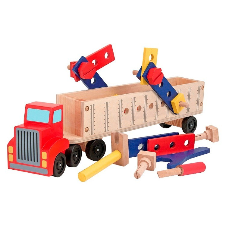 reasonable Melissa & Doug Big Rig Truck Wooden Building Set (22pc) cheap competitive